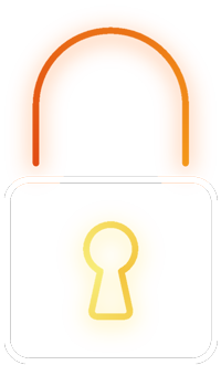 sécurité icone blanc